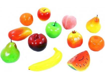 Ovoce plastové set 12ks makety potravin v síťce