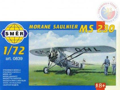 SMĚR Model letadlo Morane Saulnier MS 230 1:72 (stavebnice letadla)