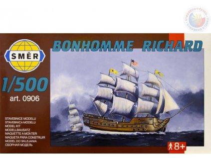 SMĚR Model loď Bonhomme Richard 1:500 (stavebnice lodě)