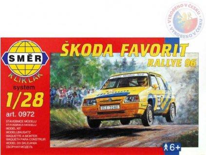 SMĚR Model auto Škoda Favorit Rallye 96 1:28 (stavebnice auta)