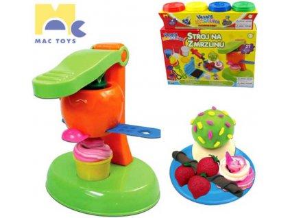 MAC TOYS Stroj na zmrzlinu Modelína Sada 4 kelímky PLAST