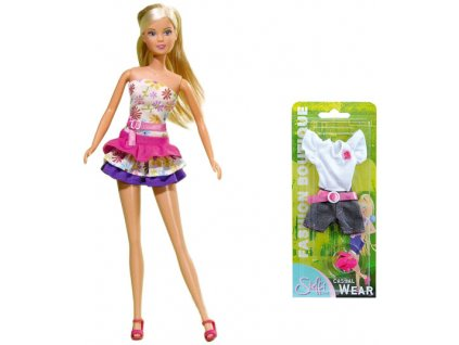 SIMBA Steffi Holiday Fashion 4 druhy ŠATY pro panenku