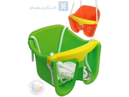 CHEMOPLAST Baby houpačka závěsná skořepina se zábranou 4 barvy plast
