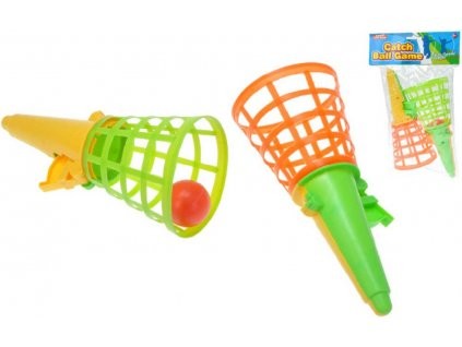 Catch ball 18cm set 2 košíky s míčkem v sáčku plast