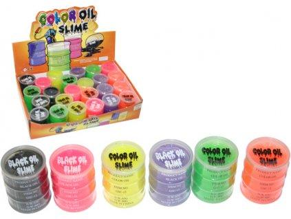 Sliz barevný zábavný v plastovém soudku 6 barev
