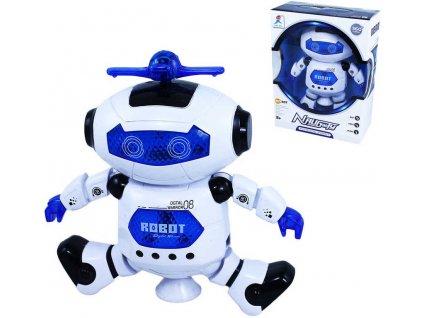 Robot Bobo tančící plastový na baterie Světlo Zvuk