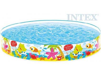 INTEX Bazén dětský pláž se zvířátky samonosný 152x25cm kulatý 56451
