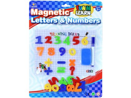 Číslice magnetické s tabulkou a fixem