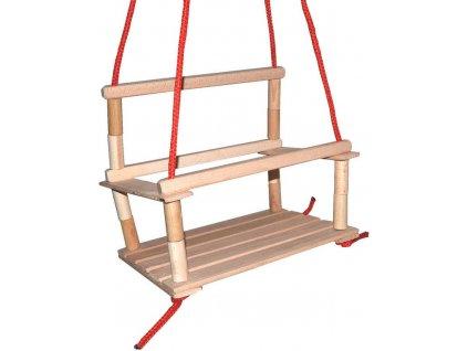 DŘEVO Houpačka dřevěná přírodní * DŘEVĚNÉ HRAČKY *
