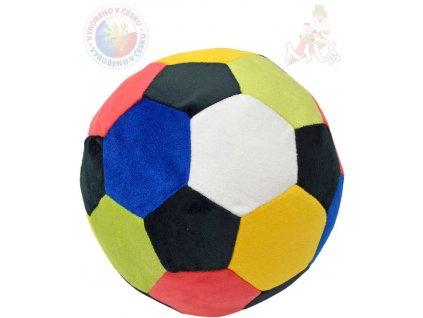 MORAVSKÁ ÚSTŘEDNA PLYŠ Baby míč barevný 20cm pro miminko