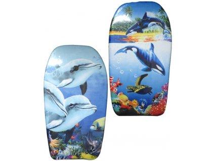 ACRA Deska surfovací prkno na vodu 84x38cm s potiskem 2 druhy