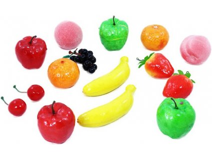 Polystyrénové ovoce set 15ks dětské potraviny dekorace do kuchyňky
