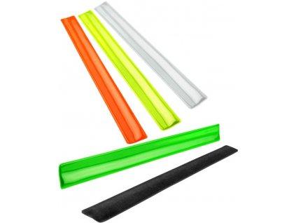 Pruh reflexní samosvorný 30x3cm bezpečnostní 4 barvy