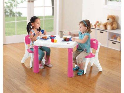 detsky stolecek se 2 zidlemi ruzovy 719600