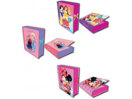 Šperkovnice dětská Disney 21x16,5x4,5cm 3 druhy