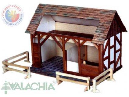 WALACHIA Stáj 33W30 dřevěná stavebnice