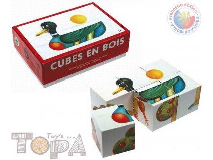 TOPA DŘEVO Kostky (kubus) 6 ks v krabičce BABY *DŘEVĚNÉ HRAČKY*
