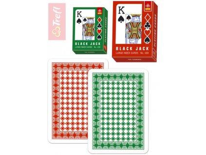TREFL Karty hrací Černý Petr velké indexy 55ks v krabičce 2 barvy