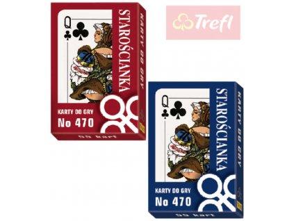 TREFL Karty hrací speciální edice historické 55ks v krabičce 2 barvy