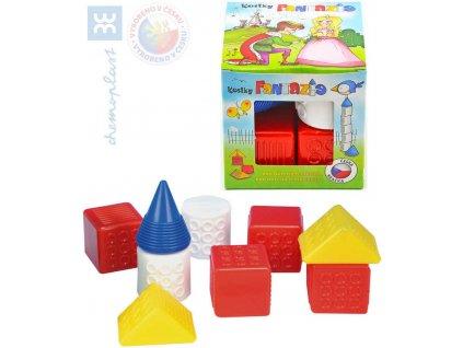 CHEMOPLAST Dětské kostky plastové set 9ks Fantazie v krabičce