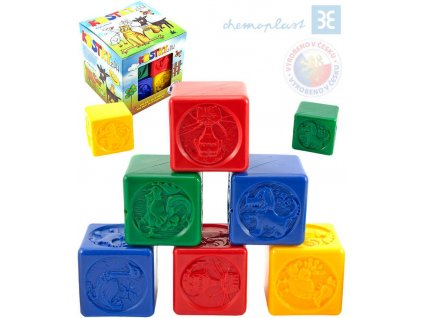 CHEMOPLAST set 8 kostek PH v síťce Plastové kostičky barevné BABY