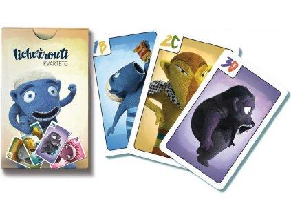 BONAPARTE Hra karetní Kvarteto Lichožrouti 32 karet papírová krabička