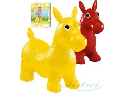 JOHN Hopsadlo nafukovací skákací zvířátko koník 55x50x25cm plast 2 barvy