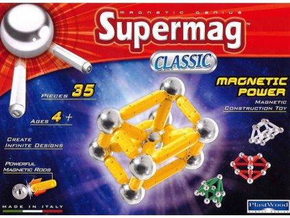 SUPERMAG klasik 35 dílků * MAGNETICKÁ STAVEBNICE *