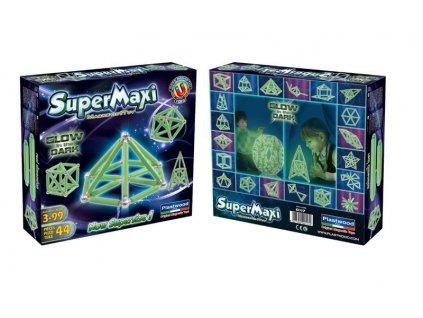 SUPERMAG Supermaxi Stavebnice Fosfor 44 dílků *MAGNETICKÁ STAVEBNICE*