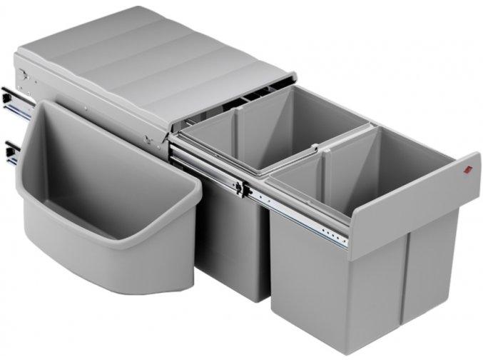 WESCO odpadkový koš dvojitý CORNER DOUBLE BOY 2x16 L