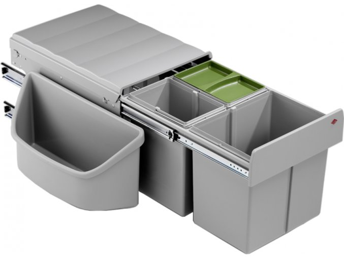 WESCO vestavný odpadkový koš CORNER BOY TRIO 32 L