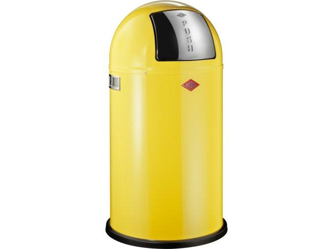 WESCO odpadkový koš Push-boy 50 L - žlutá