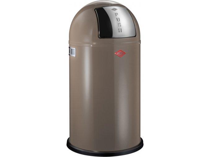 WESCO odpadkový koš Push-boy 50 - hnědo/šedivá