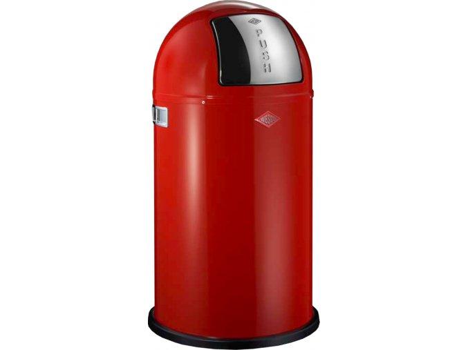 WESCO odpadkový koš Push-boy 50 - červená