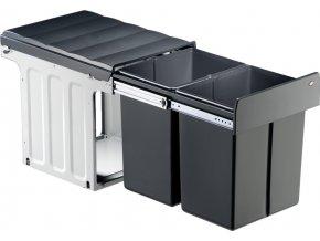 Wesco vestavný odpadkový koš Double Master Maxi 40DT 40 litrů