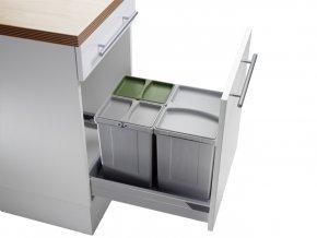 WESCO šuplíkový odpadkový koš PULLBOY VARIO 45/50 33 L