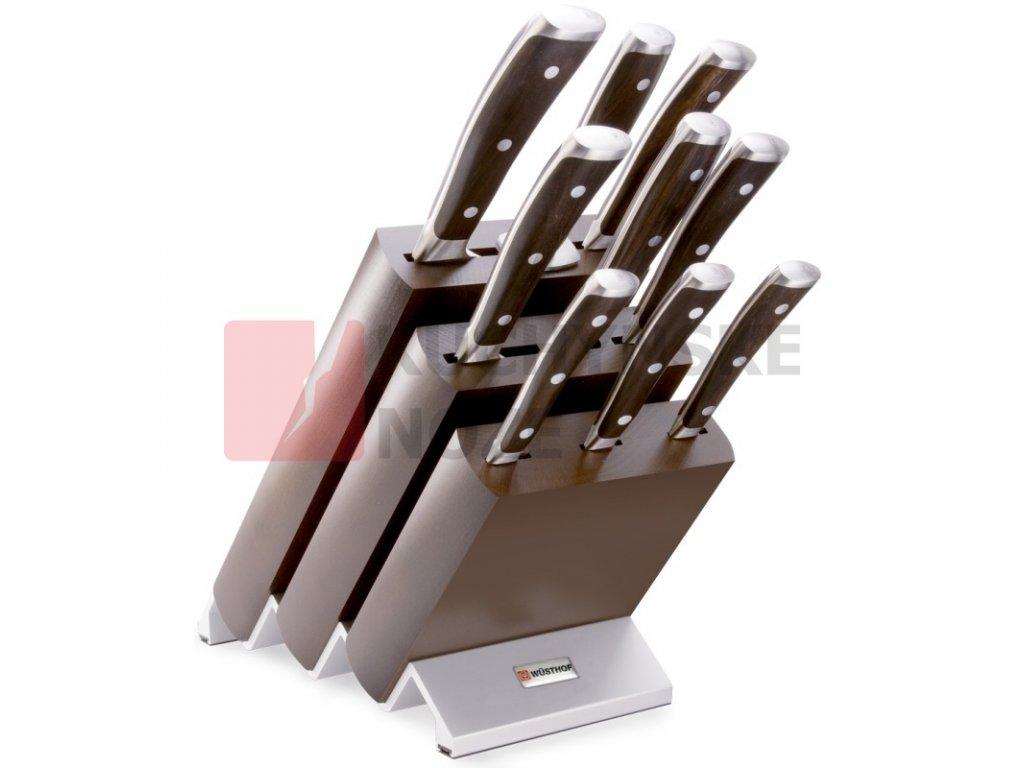 Wüsthof blok s noži Ikon 9 ks