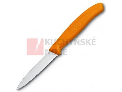 Victorinox nůž na zeleninu 8cm oranžový