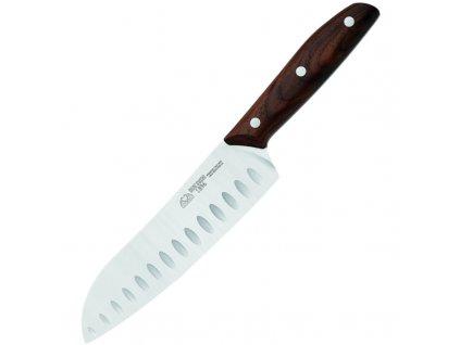 Due Cigni nůž Santoku řada 1896 ořech 18cm