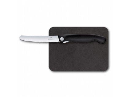 Victorinox Swiss Classic sada s krájecí deskou, černá, 2ks