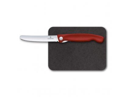 Victorinox Swiss Classic sada s krájecí deskou, červená, 2ks