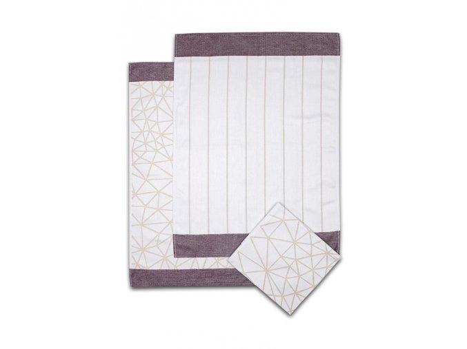 Utěrky egyptská bavlna PAVUČINA 50x70cm 3ks