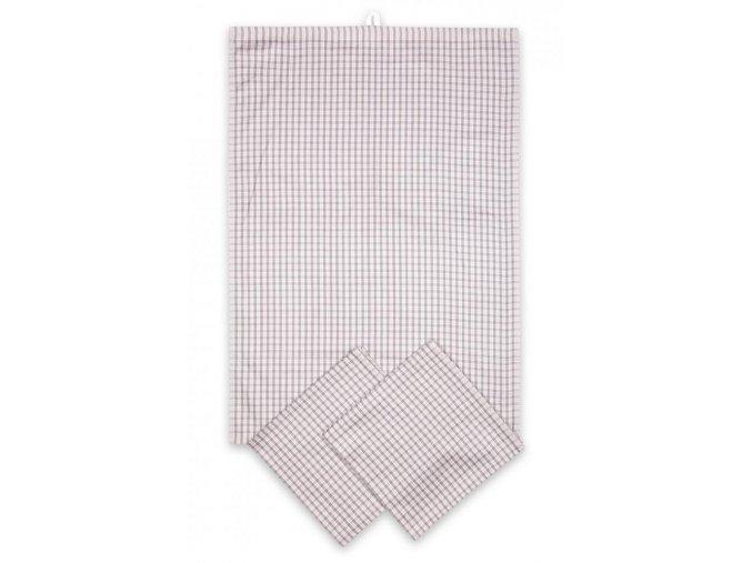 Utěrky egyptská bavlna, žakárově tkaná MALÁ KOSTKA 50x70cm 3ks - BÉŽOVÁ