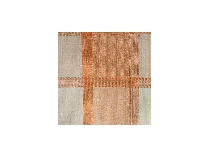 UBRUSOVINA PVC s textilním podkladem/PVC ubrus - vzor plátno oranžové