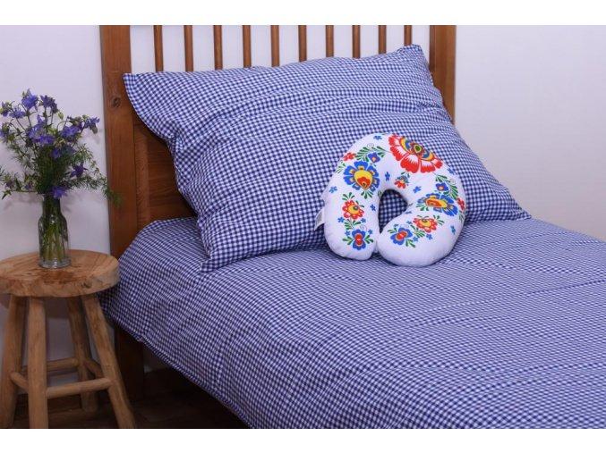Povlečení NA CHALUPU, 100% bavlna - kanafas, modré