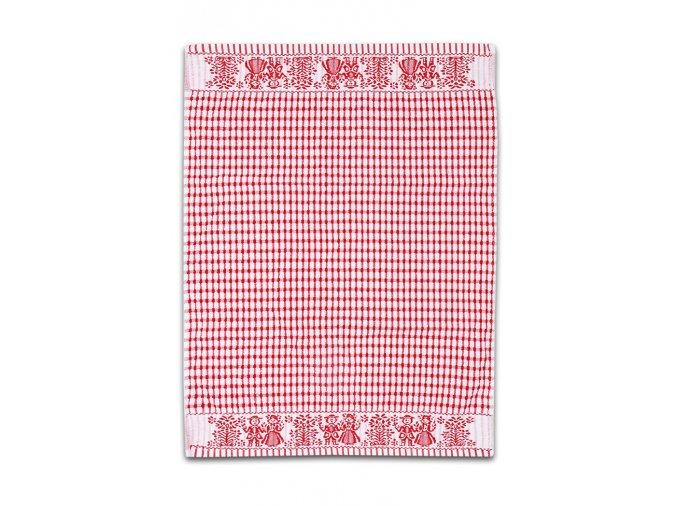Froté utěrka / ručník FOLKLOR 50x70 cm - Červená
