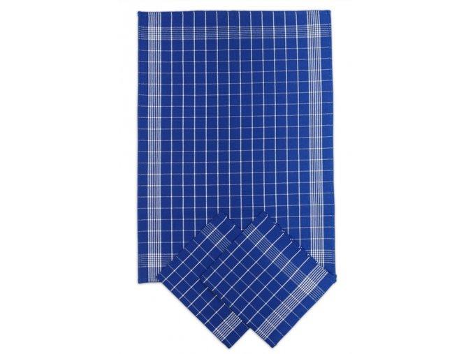 Utěrky bavlněné - Negativ modro - bílá 50x70 cm 3ks