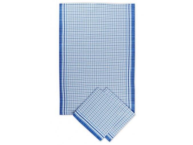 Utěrky bambusové Malá kostka modrá - 3ks 50x70 cm