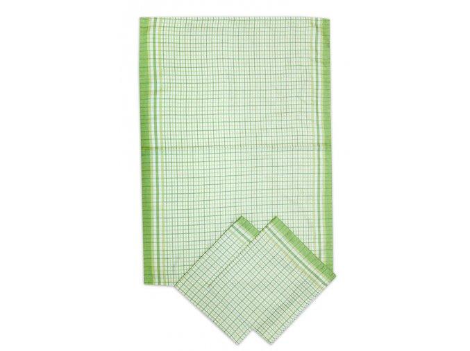 Utěrky bambusové Malá kostka zelená - 3ks 50x70 cm