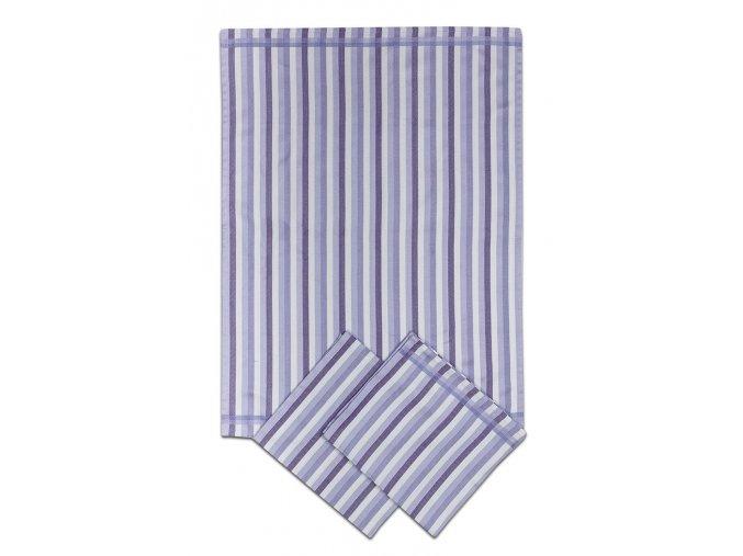 Utěrky bambusové - Pruh fialový 50x70 cm 3ks